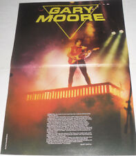 GARY MOORE Magazine POSTER FEATURE! 1984