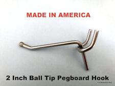 "(20 PACK) 2 Inch All Metal Peg Hooks 1/8"" to 1/4"" Pegboard, Slatwall, Garage kit"