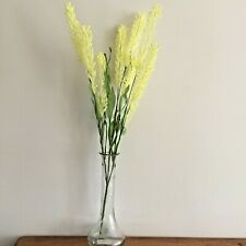 Yellow Artificial Small Wild  Feather Grass ,Flower Spray, Faux Flowers.
