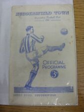 12/12/1953 Huddersfield Town V Preston North End (Divisione spina dorsale/Copertina staccata, M