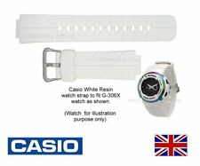 Genuine Casio Watch Strap Band for G-300, G-306X, G-306X-7A - WHITE 10268327
