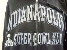 SUPER BOWL XLVI Hoodie NFL TEAM Vintage Men's Black Size M