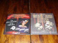 PHANTOM OF THE OPERA, LOVE NEVER DIES & WEST END HITS - 2 x PROMO NEWSPAPER CD's