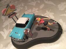1992 Franklin Mint Working Fifties Drive In Mechanical Bank 1956 Thunderbird
