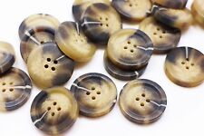 Brown Large Marble Pattern Coat Button 2pcs