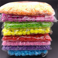 144 Pcs/ Pack Mini Foam Artificial Rose Flower Bouquet Wedding Decor Craft Suppl