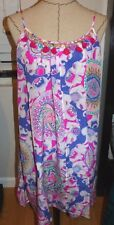 """LILLY PULITZER Rooney Dress """"PLAY THAT TRUNKY MUSIC"""" 100% Silk   Sz MD  NWT $218"""
