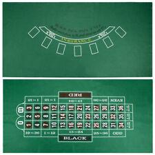 "Casino Blackjack & Roulette Gaming Table Felt Layout 72"" x 36"" Brand NEW"