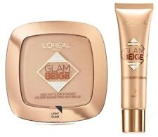 L'Oreal Healthy Glow Foundation Medium light & Matching Powder Compact