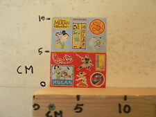 STICKER,DECAL MULAN DISNEY STICKERS SHEET 10 STICKERS MINI COMIC STRIP