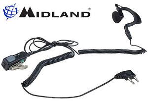 Kopfhörer Midland MA21-L Gvw Vox Switch Doppelzimmer Jack Kabel A Spirale Für G7