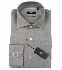 Boss Black Camicia di affari Gerald in 40 (regular fit) Marrone ItaliaItaliano