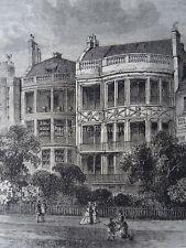 London GREEN PARK - SAMUEL ROGERS' HOUSE Original Victorian Print 1878