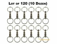 Lot of 120 Detachable Keychains Pull Apart Quick Release Removable Key Rings USA