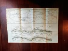 1915 Map of Waterway from German Rhine to North Sea and River Waal Near Tiel