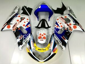Red White PEPE ABS Injection Mold Bodywork Fairing Kit for GSXR600/750 2001-2003