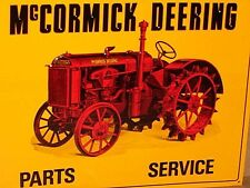 McCormick Deering TRACTOR SIGN - Shows alot of Detail of an OLD RED FARM TRACTOR