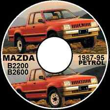 MAZDA B2200 B2600i FORD COURIER RAIDER 1987-1995 WORKSHOP REPAIR MANUAL ON CD