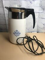 Vintage Corning ~ Blue Cornflower 10 Cup Electric Percolator Coffee Pot Complete
