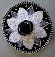 "MEXICAN MARIACHI HAT , CHARRO , SOMBRERO , COSTUME , 22"" ONE SIZE , BLACK"