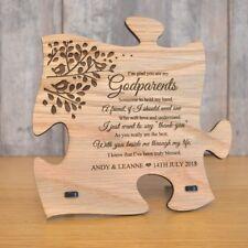 Unique God Parents Gift Wooden Jigsaw Puzzle Godparents Plaque Sign Present Idea