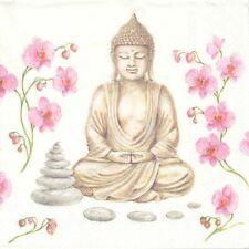 Lot de 4 Serviettes en papier Inde Bouddha Decoupage Collage Decopatch