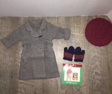 NWOB American Girl Kit's Coat, Beret, Mittens set