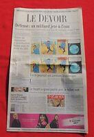 Tintin dans la Presse. LE DEVOIR octobre 2009. Coke en stock