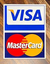 Visa / MasterCard Credit Card Logo Decal Sticker Display Signage NEW Free Ship