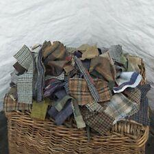 1KG Quality British Tweed SCRAPS Pieces 100% Wool Remnants RAG RUG *Not Harris