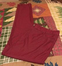 Yelete Women's Basic Five Pocket Stretch Jegging Tights Pants Size XXXL Burgundy