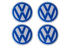 VW BUG EMBLEM Wheel Cap Logo BEETLE Adhesive Circle Round Blue Resin 48mm
