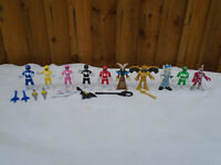 Power Rangers Imaginext Figure Bundle x 10 Full Set & Villains Weapons
