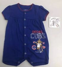 Chicago Cubs Majestic Kids Girl Size 18M One Piece Jumper Blue NWT MSRP $18