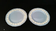 (2) OLD Wedgwood Queensware Lavender Shell Edge Dinner Plates