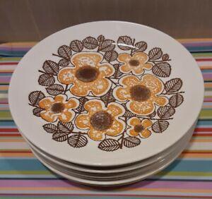 8 Vintage Kelston Ceramics (Crown Lynn) New Zealand Plates ☆ Virginia ☆ D855