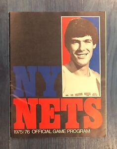 1975/76 NEW YORK NETS VS INDIANA PACERS PROGRAM SWEN NATER COVER EX/MT CONDITION