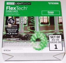 Gemmy Led Lightshow Flex Tech Green 96 Led Flexible Lights, 10ft Nib