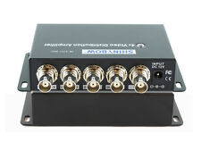 1x4 (1:4) 4-Way Composite BNC Video Splitter Distribution Amplifier SB-3701BNC