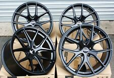 "19"" ALLOY WHEELS SATIN BLACK 5X108 CONCAVE NOVUS 01 ALLOYS"