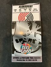 NBA- SAN ANTONIO SPURS VS/ PORTLAND TRAIL BLAZERS-3/19/2001-TICKET STUB-T. DUNKN