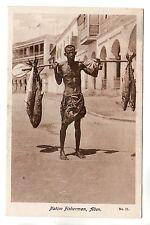 Native Fisherman  - Aden Photo Postcard c1930 / Yemen