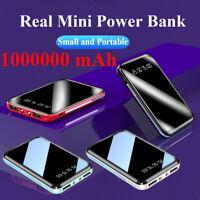 Mini Power Bank 1000000mAh 2 USB Charging Portable External Battery Charger