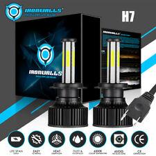 6Sides 2800W H7 LED Headlight Bulb High/Low Beam Light 6500K 420000LM White Pair