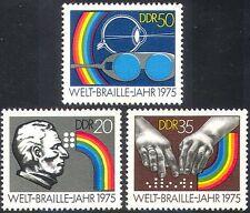 Germania 1975 Braille/Cieco/Salute/occhi/Mani/benessere/Bicchieri Set 3 V (n28233)