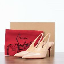 CHRISTIAN LOUBOUTIN 695$ Clare Sling 80 Slingback Pumps In Pink Patent