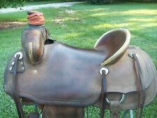 Ranch Saddle/ Teskeys Custom 16 1/2 Inch Hard Seat