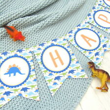 Blue Dinosaur Bunting. Birthday Party, Christening, Kids Bedroom, Boy's Party, P