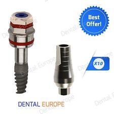 10 Spiral Dental Implant + 10 Standard Abutment FDA/CE Internal Hexagon System