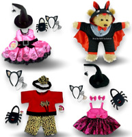 Teddy Bear Clothes fits Build a Bear Halloween Witch Dress Witches Hat Devil FUN